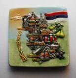 Suvenir MAGNET, keramika, Srbija - mapa
