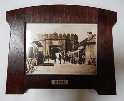Suvenir SLIKA, stari drveni ram, foto print, Niš