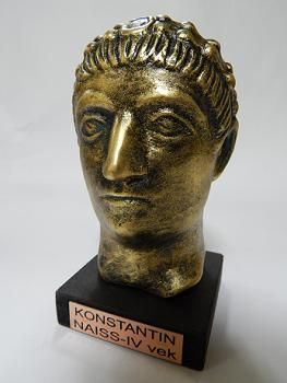 Suvenir BISTA, fundakril, Car Konstantin, 13 cm
