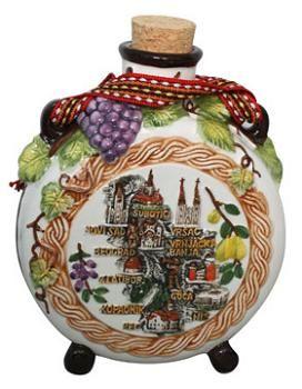 Suvenir ČUTURA, keramika, Srbija mapa