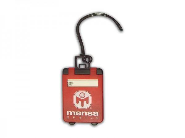 Suvenir ID kartica za putnu torbu, crvena, Mensa Srbije