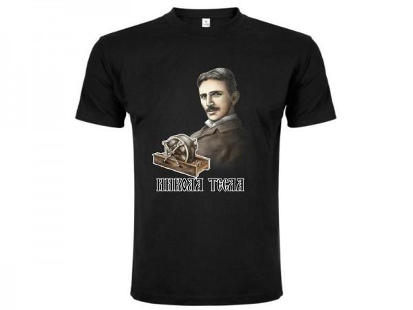 Suvenir MAJICA, tekstil, Master, crna, Nikola Tesla