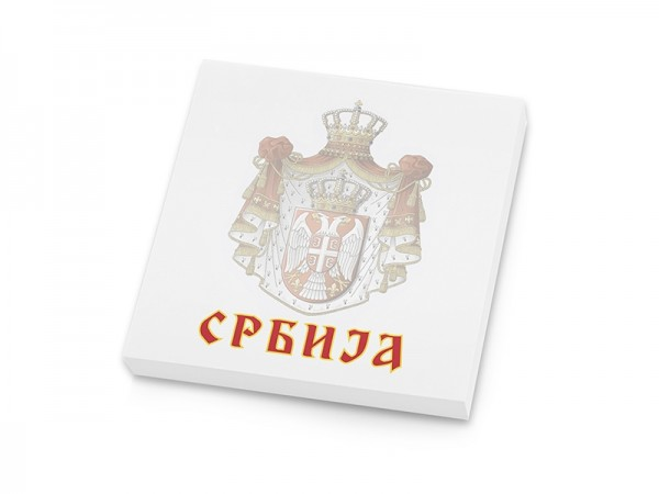 Suvenir  BLOKČIĆ sa samolepljivim listićima, Srbija - grb veliki