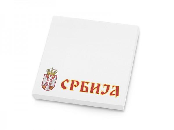 Suvenir  BLOKČIĆ sa samolepljivim listićima, Srbija - grb mali