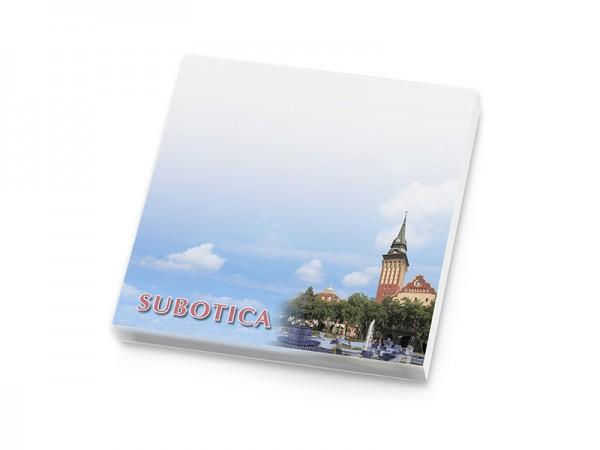 Suvenir  BLOKČIĆ sa samolepljivim listićima, Subotica