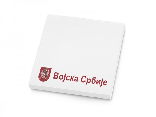 Suvenir  BLOKČIĆ sa samolepljivim listićima, Vojska Srbije