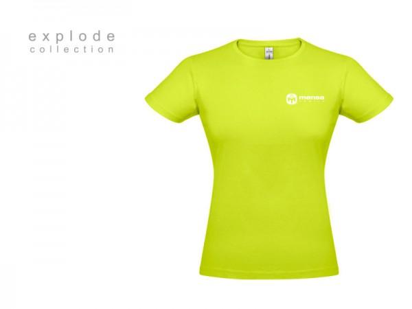 Suvenir MAJICA, ženska, tekstil, svetlo zelena-bela, Mensa Srbije