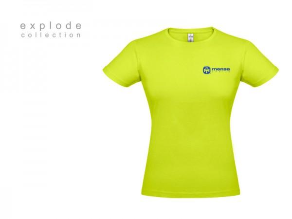 Suvenir MAJICA, ženska, tekstil, svetlo zelena-plava, Mensa Srbije