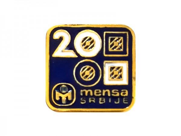 Suvenir ZNAČKA, metal, 20 godina, Mensa Srbije