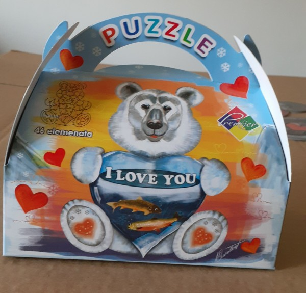 Poklon PUZZLE, I love you, meda