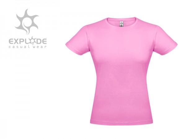 Suvenir MAJICA, ženska, tekstil, pink-bela, Mensa Srbije