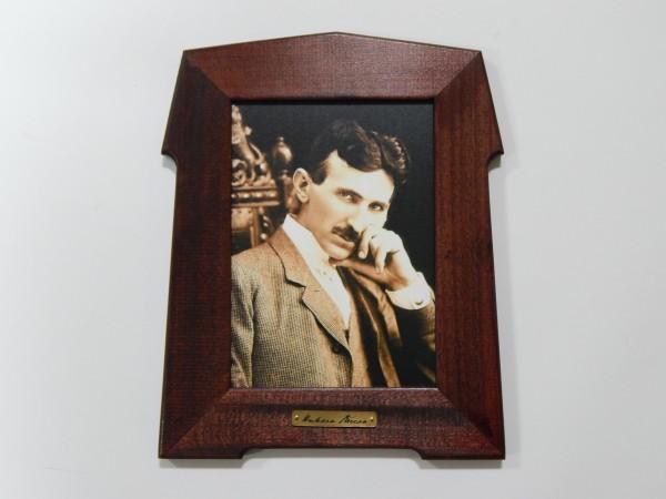 Suvenir SLIKA, stari drveni ram, 13x18 cm, foto print, Nikola Tesla 3