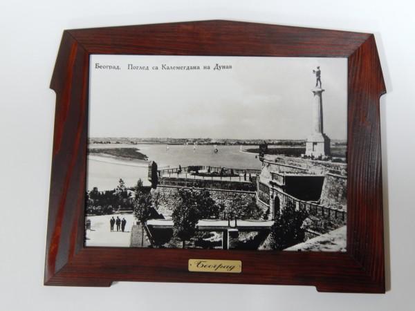Suvenir SLIKA, stari drveni ram, 40x30 cm, foto print, Beograd - Kalemegdan