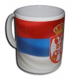 Suvenir ŠOLJA, keramika, foto, Srbija - zastava
